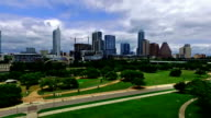 Austin Texas Aerial Skyline View from Downtown Parks video