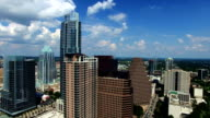 Austin Texas Downtown Backing Away from Iconic Frost Bank Tower New Cityscape video
