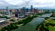 Austin Texas Flying over Colorado River Amazing Nice Day video