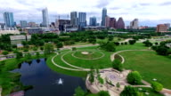 Austin Texas Over Modern Gorgeous Park Space Overlooking Downtown video