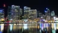 Australia Cityscape at Night : Time Lapse video