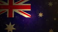 Australia Flag - Grunge. 4K video