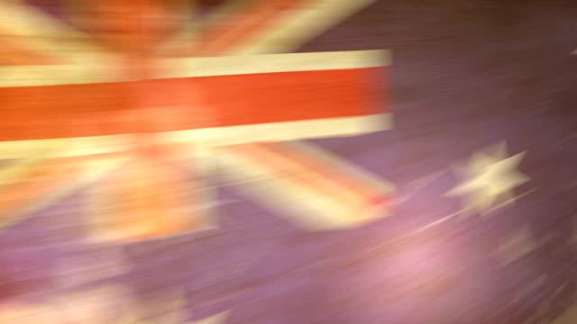 Australia Flag - Grunge. HD video