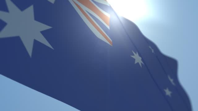 Australia Flag High Quality - Looping video
