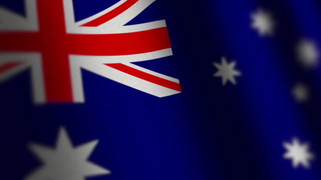 Australia flag - loop video