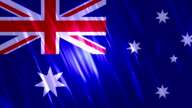 Australia Flag Loopable Animation video