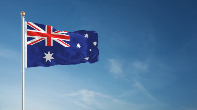 4K Australia Flag - Loopable video