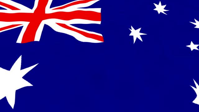 Australia Flag - looping, waving video