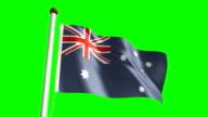 Australia flag (Loop & green screen) video