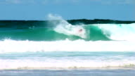 Australia wave with surfer riding video
