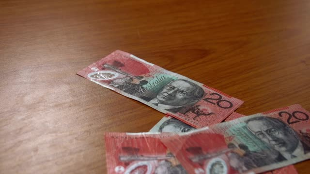 Australian 20 dollar bills notes HD - Stock Video video