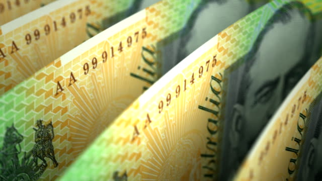Australian Dollar Close-up video