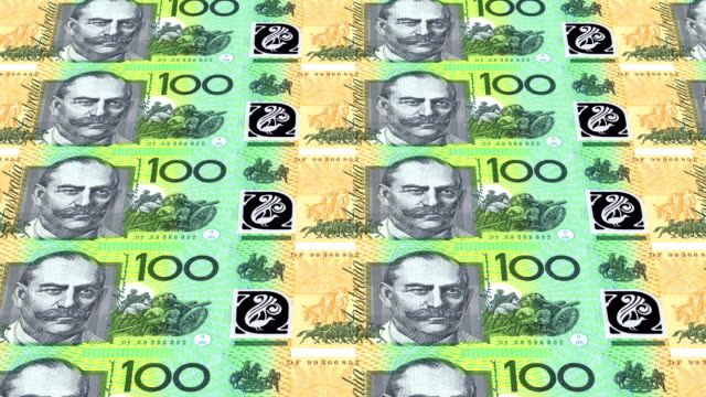 australian dollar printing - animation video