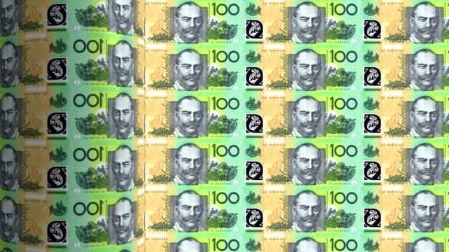 australian dollars printing - animation video