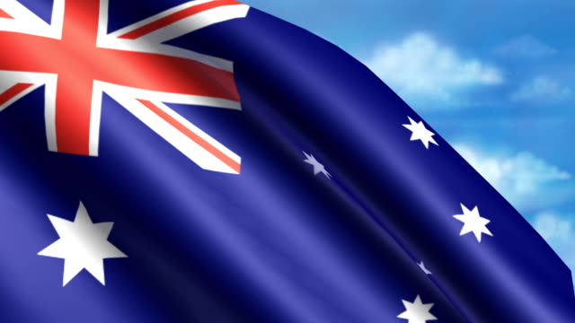 Australian Flag Animation video