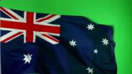 4K: Australian Flag on green screen - Real video, not CGI video