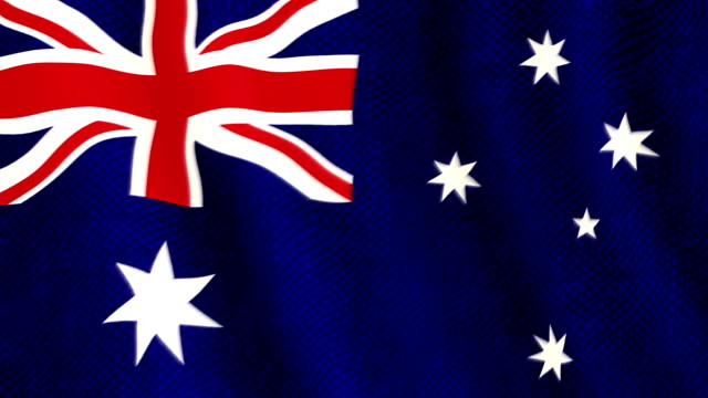 Australian flag waving animation video