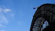Australian National Flag raised on Harbour Bridge video