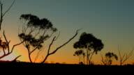 Australian Sunset Landscape Establishing Shot video