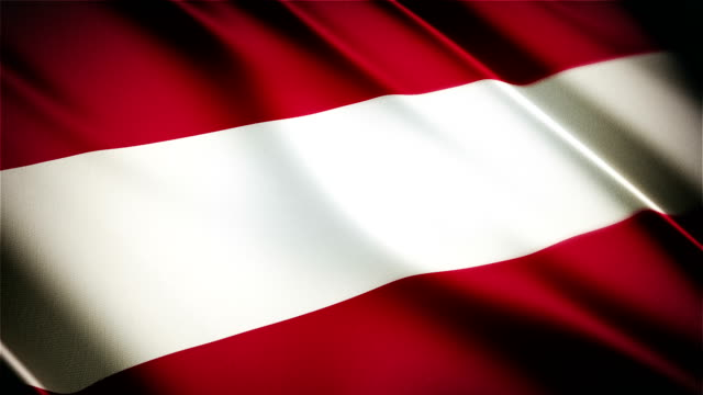 Austria realistic national flag seamless looped waving animation video