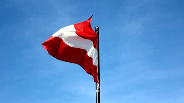 Austrian flag (HD) video