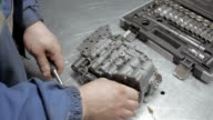 Auto Mechanic is Working on Engine in Car Repair Shop video