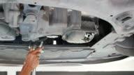 Auto mechanic working video
