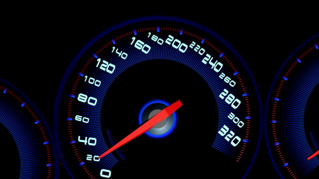 Auto speed meter.3D rendering. video