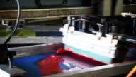 Automated Silk Screening Machine Close up video