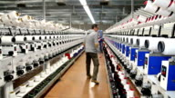 Automated Yarn Production in Modern Textile Plant video
