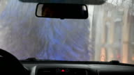 Automatic Car Wash. View from Inside. video