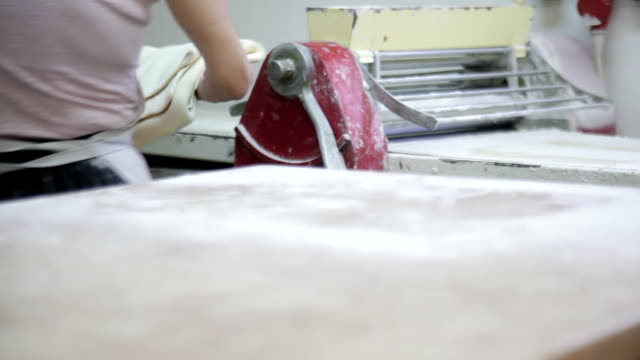 Automatic dough Roller in bakery video