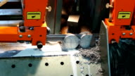 Automatic Metal pipe cutting machine video