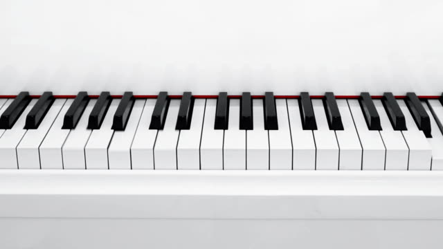 Automatic piano playing music video