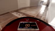 Automatic Vacuum Robot Cleaning the House Floor Itself video