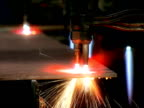 Automatic welding and cutting machine video