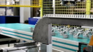 Automatized production line in factory video