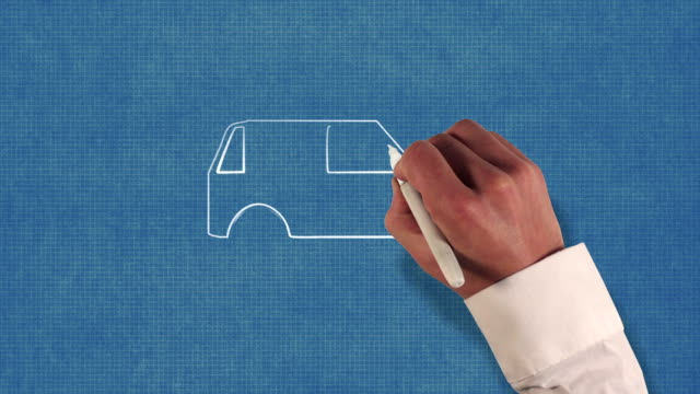 Automobile Blueprint Stop-Motion Style Animation video