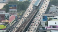automobile congestion in heavy rush hour video