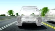 Automobile Technology. Road collision alert video