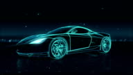 Automobile Technology. running car. 360 X-ray view. video