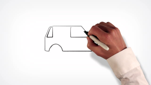 Automobile Whiteboard Stop-Motion Style Animation video