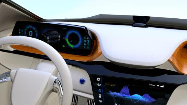 Autonomous car interior concept video