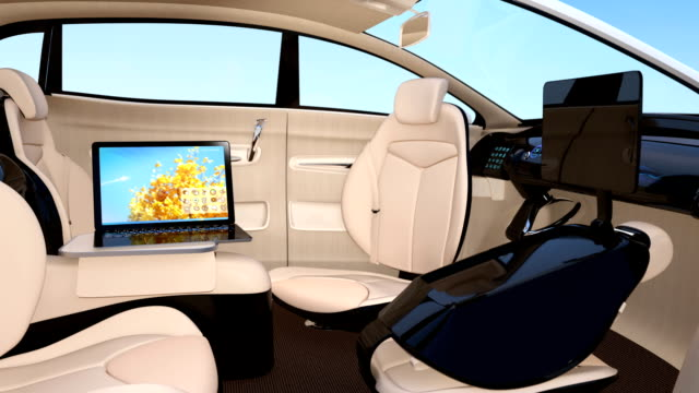Autonomous car interior video
