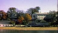1967: Autumn beach house clubhouse closed for the summer season. video