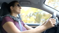 Autumn Driving on a Beautiful Autumn Day video