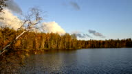 Autumn scenery of the river in Siberia, Yamal video