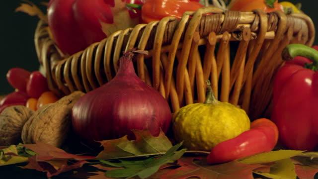 Autumn vegetables composition video