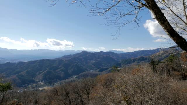 Autumn/winter mountain view in Chichibu, Japan video