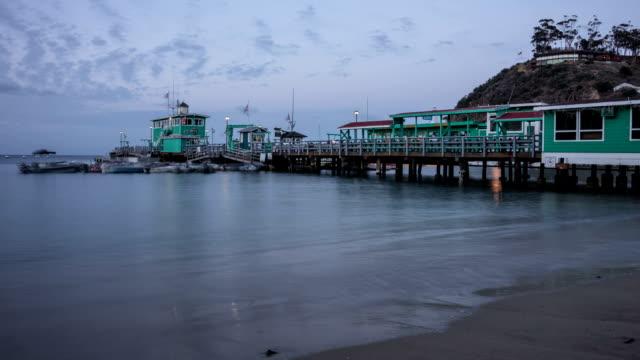 Avalon, Santa Catalina Island night time Lapse video